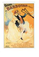 Cpm - 32 - BARBOTAN LES THERMES - Boues Santé Illustration Femme Homme Béquilles Phlébite Sciatique Bains à Eau Courante - Santé