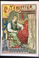 Cambrai Boulangère Métier Tapissier Fauteuil Clous Marteau  Chromo Didactique Art Nouveau Vitrail Dorée - Trade Cards