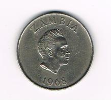 //  ZAMBIA  10 NGWEE   1968 - Zambie