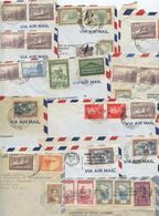 Argentina 1956-58 14 Airmail Covers To U.S., Mix Of Stamps & Postmarks - Argentina