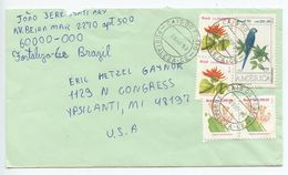 Brazil 1993 Cover Cais Do Porto, Fortaleza To U.S., Scott 2271 2273 2424 - Covers & Documents