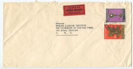 Colombia 1969 Special Delivery Cover Bogota To Ann Arbor Michigan - Colombia