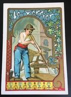 Cambrai Boulangère Métier Verre Verrier Souffleur Chromo Didactique Art Nouveau Vitrail Dorée - Trade Cards