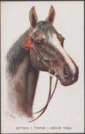 Horse, Often I Think I Hear You, C.1915 - Inter-Art Postcard - Horses