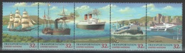 Nations Unies (New York) - YT 728-732 ** MNH - 1997 - Transports - Bateaux - New-York - Siège De L'ONU