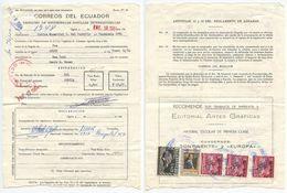 Ecuador 1964 International Parcel Postal Dispatch From New York - Ecuador