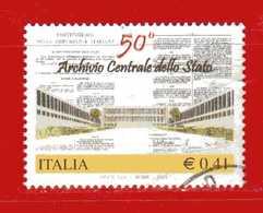 Italia °- Anno 2003 - ARCHIVIO Dello STATO.  USATO. Unif 2726.  Vedi Descrizione - 2001-10: Usados