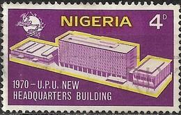 NIGERIA 1970 New UPU Headquarters Building - 4d U.P.U. Headquarters Building FU - Nigeria (1961-...)
