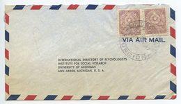 Paraguay 1957 Airmail Cover Asuncion To Ann Arbor Michigan - Paraguay