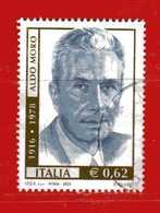 Italia °- Anno 2003 - ALDO MORO.  USATO. Unif 2727.  Vedi Descrizione - 2001-10: Usados