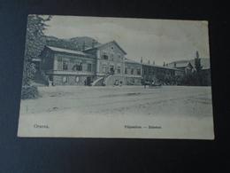 ORSOVA ROMANIA - PALYAUDVAR - BAHNHOF - TRAIN STATION - TRAVELLED 1913 - Romania