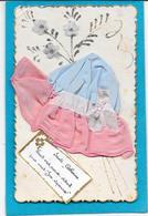 BONNET Sainte CATHERINE Bleu, Volant Rose, Petite Fleurs En Feutrine - Mechanical