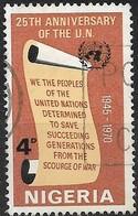 NIGERIA 1970 25th Anniversary Of United Nations - 4d Scroll FU - Nigeria (1961-...)