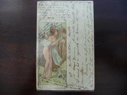 CPA - Eau Vals Saint-Jean Vals Précieuse - Art Nouveau -style Mucha - Werbepostkarten