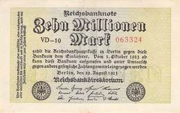 10 Mio Mark Reichsbanknote VF/F (III) VD-10 - [ 3] 1918-1933 : Repubblica  Di Weimar