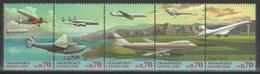 Nations Unies (Genève) - YT 333-337 ** MNH - 1997 - Transports - Avions - Office De Genève
