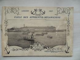 """(Militaria - Marine Nationale) - LORIENT - Livret Photo,  """" Ecole Des Apprentis Mécaniciens - 1927 """".....voir Scans - Bücher"""