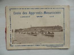 """(Militaria - Marine Nationale) - LORIENT - Livret Photo,  """" Ecole Des Apprentis Mécaniciens - 1928 """".....voir Scans - Bücher"""
