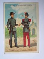 CHROMO Chromo ALCOOL DE MENTHE RICQLES - Ecoles Polytechnique & St Cyr (Soldat, Militaire Français) - Trade Cards