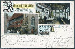 1902 Bayern Nürnberg Bratwurstglöcklein Bratwurst Sausage Postcard - Strängnäs Sweden. Sassnitz / Trelleborg Ferry - Germany