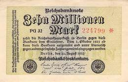 10 Mio Mark Reichsbanknote VF/F (III) PG 32 - [ 3] 1918-1933 : Repubblica  Di Weimar
