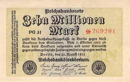 10 Mio Mark Reichsbanknote VF/F (III) PG 31 - 1918-1933: Weimarer Republik