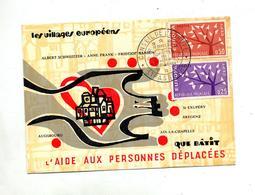 Carte Cachet Strasbourg Conseil Europe Sur Europa - Storia Postale