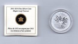 CANADA $ 10,-- MAPLE LEAF FOREVER AG 2011 - Canada