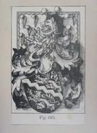 SUISSE - Gravure Héraldique XIXème - Aux Armes De DIESBACH - Ex-libris