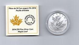 CANADA $ 10,-- MAPLE LEAF  AG 2014 - Canada