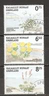 Groenland 2005 - Flore - Plantes Comestibles - Série Complète 428/30° - Livêche D'Ecosse - Orpin Rose - Oxyrie - Gebraucht