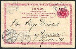 1900 Sweden Stationery Postcard Jonkoping L Br - Apolda Germany. Sassnitz / Trelleborg Ferry - Sweden