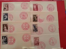 Y&T 1048/1049 1006/1007 1089/1090 966 / 967 -  Lot 8 FDC Croix Rouge - 1950-1959