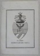 Milan Italie- Ex-libris Héraldique XIXème - Comte Hercule De SILVA - Bookplates