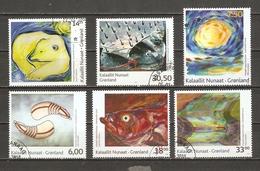 Groenland 2008/10 - Art Contemporain - Petit Lot De 6° - Aka Hoegh - Camilla Nielsen - Naja Abelsen - Buuti Pedersen ... - Gebraucht
