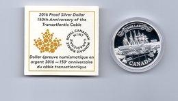 CANADA $ 1,-- 150th ANN. OF THE TRANSATLANTIC CABLE  AG PROOF 2016 SHIP SCHEPEN - Canada