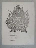 Italie- Ex-libris Héraldique XIXème - Luigi TIBET - Ex-libris