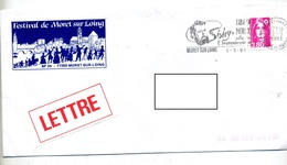 Lettre Flamme Moret Sur Loing Impressionnisme Sisley - Postmark Collection (Covers)