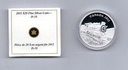 CANADA $ 20,-- CANADIAN PACIFIC STEAM LOCOMOTIVE  AG PROOF 2011 TREIN - Canada