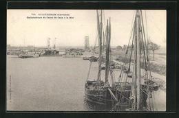 CPA Ouistreham, Embouchure Du Canal De Caen A La Mer - Ouistreham