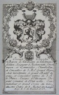 Vignette Héraldique XVIIIème - Joseph Anselm ADELMANN, Seigneur à Hochenstatt.... - Ex-libris