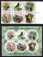 BIRDS - 2012 - BANGLADESH -  Mi.. Nr.  1099/1104 + BF 49 - NH - (CW4755.29) - Bangladesh