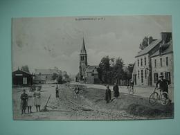 35 -- SAINT DOMINEUC (rue, église, Cycliste...) - Altri Comuni