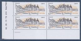 = Le Château De Chambord 0.88€ Neuf Bloc De 4 Coin Daté 02.05.19 TD 201  5667981 - 2010-....