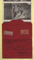 Envoi Pochette Cartes Postales En Recommande - Belfort - Tresor Et Postes Secteur 140 - 1917 - Rare - Postmark Collection (Covers)