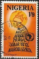 NIGERIA 1972 All-Africa Trade Fair - 1s.9d. Africa On Globe FU - Nigeria (1961-...)