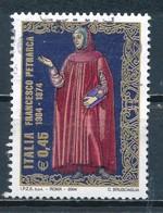 °°° ITALIA 2004 - FRANCESCO PETRARCA °°° - 1946-.. Republiek