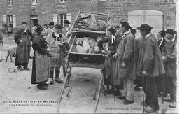 29 Scènes De Foire En Bretagne - Une Charretée De Petits Frères 1915  TRES BELLE CARTE - Autres Communes