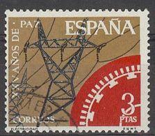 Espa�a-Spain. XXV A�os De Paz (o) - Ed 1586, Yv=1235, Sc=1238, Mi=1465 - 1961-70 Usados