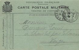 Carte Postale Franchise Militaire TROUPES En CAMPAGNE 1914 - Poststempel (Briefe)